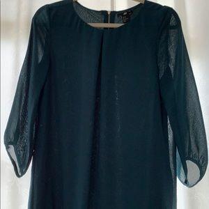 Green flow-y dress